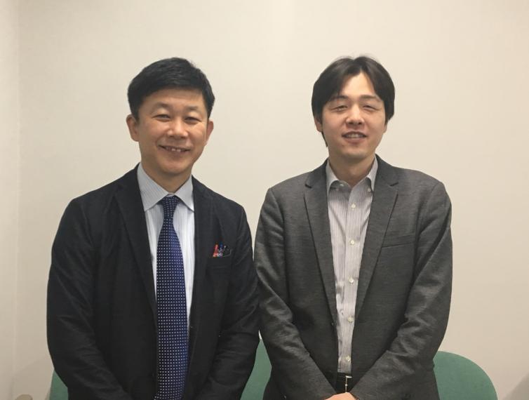今回は大阪大学の中村亨特任教授(右)との対談です。